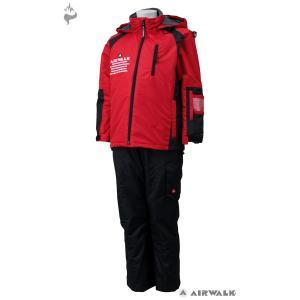 AIR WALK(エアウォーク) AWB-3439 子供用 ジュニア ボーイズ スキーウェア スーツ 上下セット☆RED|sports|02
