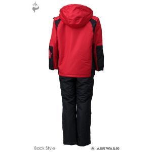 AIR WALK(エアウォーク) AWB-3439 子供用 ジュニア ボーイズ スキーウェア スーツ 上下セット☆RED|sports|03