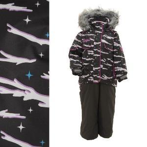 POCKET BEAR(ポケットベア) PBT-2414 子供用 キッズ ガールズ スキーウェア 上下セット☆BLK|sports
