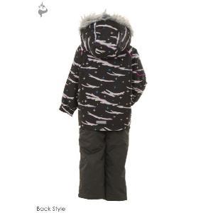 POCKET BEAR(ポケットベア) PBT-2414 子供用 キッズ ガールズ スキーウェア 上下セット☆BLK|sports|03