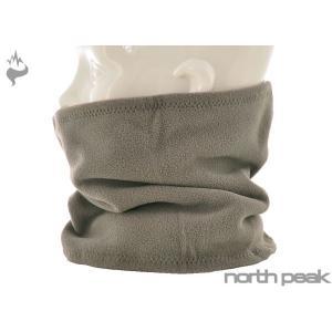 メール便OK NORTH PEAK(ノースピーク) NP-6204 ダブルフリースネックウォーマー/ユニセックス□BLK sports