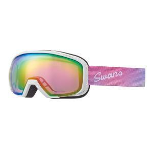 SWANS(スワンズ) 080-MDH-S-PAF ピンクミラー 球面ダブルレンズ スノーゴーグル スキー スノーボード 透過率47%|sports