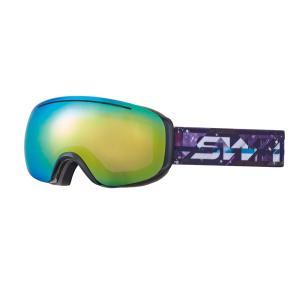 SWANS(スワンズ) 090-MDH-S オレンジミラー 球面ダブルレンズ スノーゴーグル スキー スノーボード 透過率24%|sports