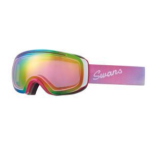 SWANS(スワンズ) 090-MDH-S オレンジミラー 球面ダブルレンズ スノーゴーグル スキー スノーボード 透過率47%|sports