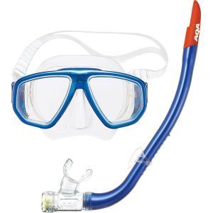 度付きレンズ対応の2眼シリコンマスク&シリコンスノーケルの2点セット。 高品質シリコン製、度...