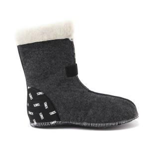 9mm厚の4層構造のレイヤーがしっかりと外部の冷気を遮断し、靴内部の保温性を確保。 ポリエステルイン...