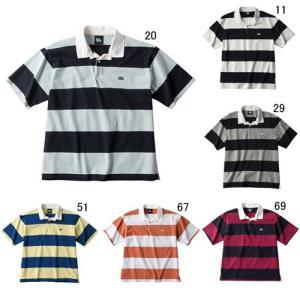ラガーシャツ 半袖 メンズ カンタベリー canterbury 4インチ ストライプ ラグビージャージ 男性用 ラグビー ボーダー  綿 タウンユース / RA39064 セール