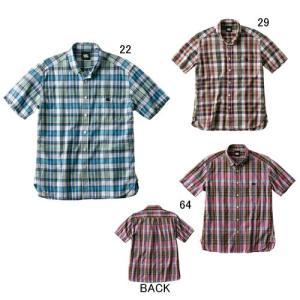 半袖 ワイシャツ メンズ カンタベリー canterbury ショートスリーブ マドラスチェック シャツ ラグビー スポーツ カジュアル ウェア セール RA39069