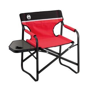 COLEMAN(コールマン)キャンプ用品 ファミリーチェア キャンプ用品 サイドテーブル付きデッキチェアST 2000017005|sportsauthority