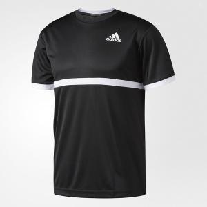 (セール)adidas(アディダス)ラケットスポーツ Tシャツ MENS COURT Tシャツ BBK46 AJ7013 メンズ ブラック/ホワイト