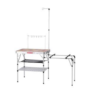 (セール)(送料無料)COLEMAN(コールマン)キャンプ用品 キッチンテーブル 一体型テーブル オ...