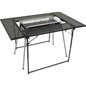 (送料無料)Alpine DESIGN(アルパインデザイン)キャンプ用品 キッチンテーブル 一体型テーブル マルチBBQテーブル AD-S19-015-029 ブラック|sportsauthority