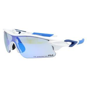 FILA(フィラ) FILA-FLS 4003-WHT FLS 4003-4 スポーツアクセサリー サングラス SHINY WHITE/MATTE NAVY/LIGHT SMOKE/BLUE REVO セール|スポーツオーソリティ PayPayモール店