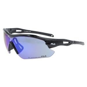 FILA(フィラ) FILA-FLS 4009-BLK FLS 4009-1 スポーツアクセサリー サングラス SHINY BLACK/SMOKE/BLUE REVO|スポーツオーソリティ PayPayモール店