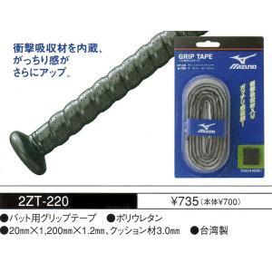 衝撃吸収材を内蔵、がっちり感がさらにアップ ミズノ 2ZT220 バットグリップテープ|sportsguide