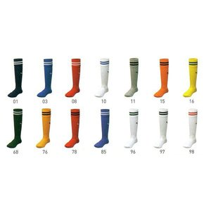 プーマ ジュニアサッカーストッキング 22〜24センチ対応 ベースカラーにプーマキャットカラーの2本ライン入り 現品限り sportsguide