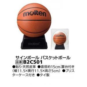 サインボール 天然皮革 バスケットマスコットボール モルテン B2C501 ブリスターケース入り