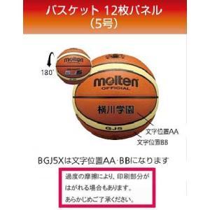 モルテン フリーワード・個人名入りバスケットボール検定球5号 GJ5X 1パネルネーム入り|sportsguide