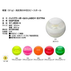 パークゴルフボール ハイパワーボールX-LABO EXTRA GGP305 アシックス 軽量(91g)・高反発の中空2ピースボール|sportsguide