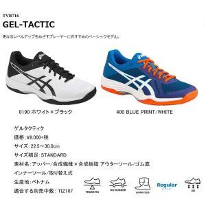 ゲルタクティク GEL-TACTIC アシックス レギュラーラスト TVR716  レベルアップを目指すプレーヤーにおすすめのベーシックモデル sportsguide