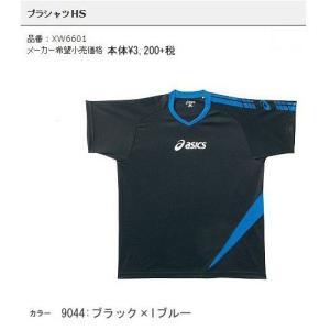 プラシャツHS ブラック×Iブルー アシックス 展示会限定プラクティスウエア 半袖プラクティスシャツ 現品限り sportsguide