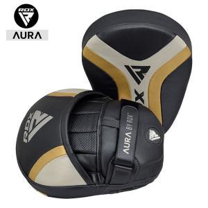 ボクシング パンチングミット ストラップ付き サイズ調整 2個セット RDX AURA 高品質 総合...