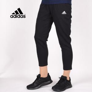 アディダス adidas レディース パンツ カジュアル ウエア トレーニング スポーツウェア ランニング 運動 W ESS SL 7/8 スウェットパンツ GM5626 ブラック|sportsivy