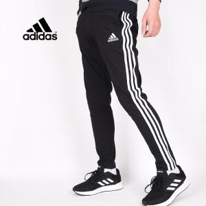 アディダス adidas メンズ スポーツ ウェア ロングパンツ トレーニング 運動 M ESS 3ストライプス SJ スウェットパンツ GK8995 黒|sportsivy