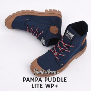 パラディウム palladium スニーカー レディース カジュアル 防水 シューズ ファッション ストリートPAMPA PUDDLE LITE WP+ 76357 419 ネイビー|sportsivy