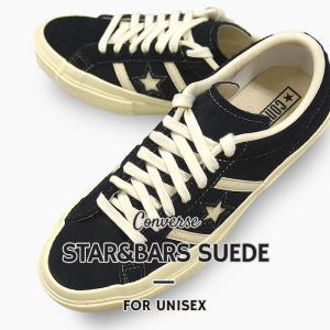 コンバース converse  レディース メンズ スニーカー カジュアル シューズ 靴 スター&バーズ スエード STAR&BARS SUEDE 35200110 黒 sportsivy