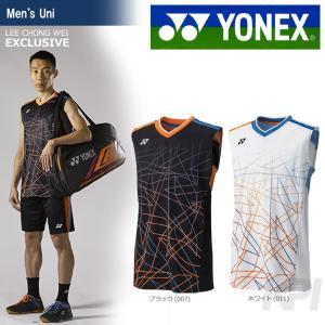 「9月下旬発売予定※予約」「2017新製品」YONEX ヨネックス 「メンズ ノースリーブシャツ 10004LCW」バドミントンウェア|sportsjapan