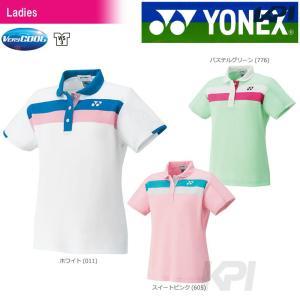 「チームウエアフェア」「2017新製品」YONEX ヨネックス 「WOMEN レディース ポロシャツ 20395」ウェア「2017FW」|sportsjapan