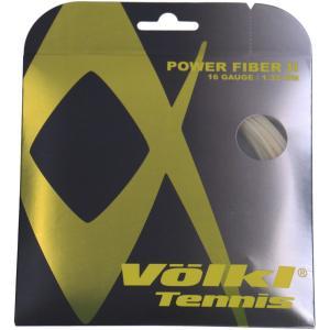 硬式テニスストリング ガット  フォルクル VOLKL POWER FIBER II 16G SET NATURAL パワーファイバー2 253007『即日出荷』|sportsjapan