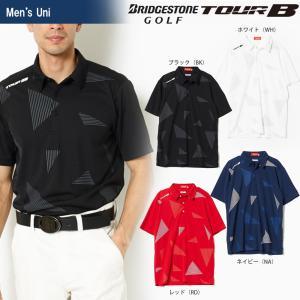 ブリヂストンゴルフ BRIDGESTONE ゴルフウェア メンズ TOUR B ツアーB 半袖台付共衿シャツ 3GJ01A 2018SS|sportsjapan