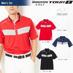 ブリヂストンゴルフ BRIDGESTONE ゴルフウェア メンズ TOUR B ツアーB 半袖台付ポロシャツ 3GJ02A 2018SS|sportsjapan