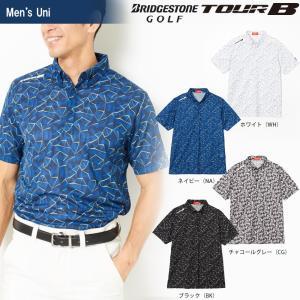 ブリヂストンゴルフ BRIDGESTONE ゴルフウェア メンズ TOUR B ツアーB 半袖ボタンダウンシャツ 3GJ05A 2018SS|sportsjapan