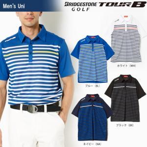 ブリヂストンゴルフ BRIDGESTONE ゴルフウェア メンズ TOUR B ツアーB 半袖台付共衿シャツ 3GJ06A 2018SS|sportsjapan