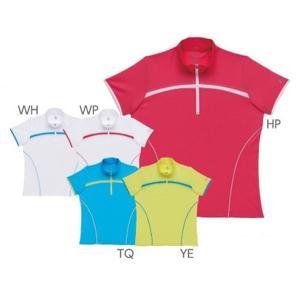 テニスウェア レディース パラディーゾ PARADISO レディース半袖ゲームシャツ 52CL3A KPI|sportsjapan