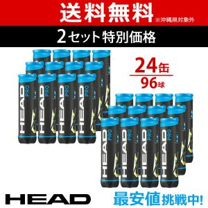 HEAD ヘッド 「HEAD PRO ヘッドプロ 4球入り2箱 24缶/96球  571714」テニスボール|sportsjapan