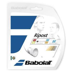 『新パッケージ』「■5張セット」BabolaT(バボラ)「Ripost(リポスト)135 BA241109」硬式テニスストリングKPI+ sportsjapan