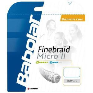 『即日出荷』BabolaT バボラ 「FINEBRAID MICRO II 067 ファインブレード・マイクロ II 067 200mロール BA243098」バドミントンストリング ガット KPI+|sportsjapan
