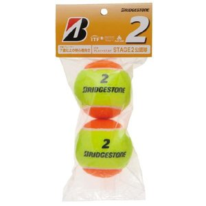 BRIDGESTONE (ブリヂストン)「ノンプレッシャーボール2(STAGE2)BBAPS2 1袋(2個入り)」キッズ/ジュニア用テニスボールKPI+|sportsjapan