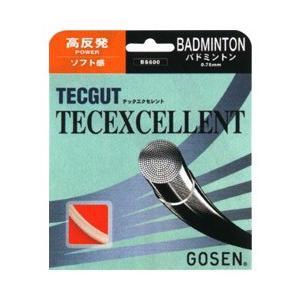 『即日出荷』 GOSEN ゴーセン 「テックガット テックエクセレント BS600」バドミントンストリング|sportsjapan