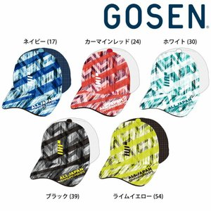 ゴーセン GOSEN テニスキャップ・バイザー  2018年 夏企画 ALL JAPAN オールジャパンキャップ グラフィック1 C18A05 『即日出荷』|sportsjapan