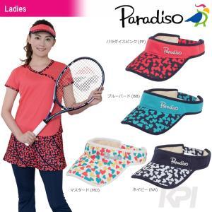 「2017新製品」PARADISO パラディーゾ 「レディースハートバイザー CPCW76」テニスウェア「2017FW」|sportsjapan