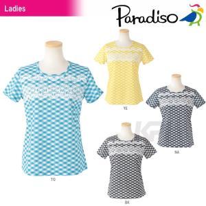 テニスウェア レディース パラディーゾ PARADISO レディース半袖ゲームシャツ DCL01A 2016SS|sportsjapan