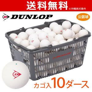 DUNLOP SOFTTENNIS BALL ダンロップ ソフトテニスボール 公認球 バスケット入 10ダース 120球 4月発売予定※予約|sportsjapan