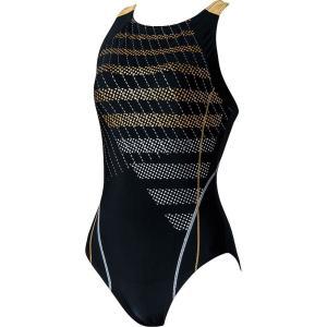 エレッセ Ellesse 水泳水着 レディース ドットストライプウルトラストレッチワンピース ES38110-KD|sportsjapan