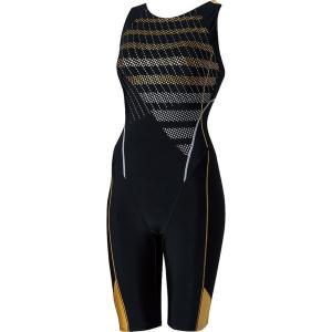 エレッセ Ellesse 水泳水着 レディース ドットストライプウルトラストレッチオールインワン ES48110-KD sportsjapan