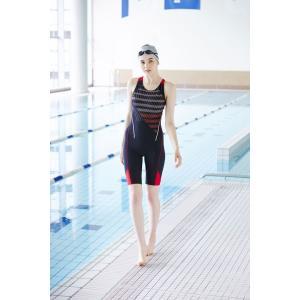 エレッセ Ellesse 水泳水着 レディース ドットストライプウルトラストレッチオールインワン ES48110-KR sportsjapan